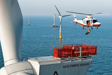 How Utility Helicopter Construction Is Advancing Green Energy